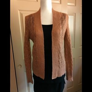 Burnt orange sparkly Banana Republic cardigan